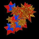 Colorful Christmas Stars Stock Image