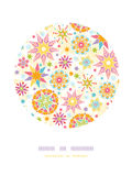 Colorful Christmas Stars Circle Decor Pattern Royalty Free Stock Photography