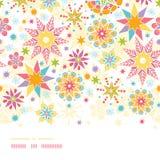 Colorful Christmas Stars Horizontal Seamless Stock Image