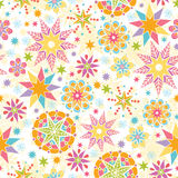 Colorful Christmas Stars Seamless Pattern Royalty Free Stock Image