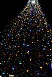Colorful Christmas string light tree Stock Image