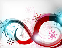 Colorful Christmas swirl abstraction with lights Royalty Free Stock Photography