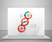 Colorful Christmas swirl abstraction with lights Stock Photos