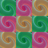 Colorful Christmas seamless holiday swirl pattern Stock Image