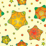 Colorful Christmas texture with stars Royalty Free Stock Photography