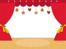 Colorful christmas Theatre podium Royalty Free Stock Photos