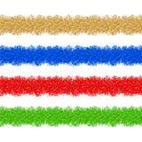 Colorful christmas tinsel. Vector illustration of colorful christmas tinsel Stock Photo