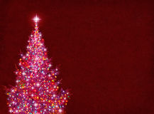 Colorful Christmas Tree Stock Photo