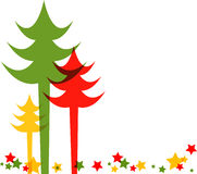 Colorful Christmas tree. Vector Illustration Royalty Free Stock Photo