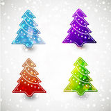 Colorful Christmas  tree Stock Photos