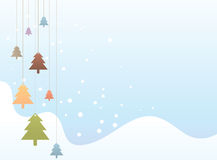 Colorful Christmas Tree Royalty Free Stock Photography