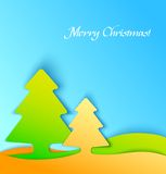 Colorful christmas tree applique background Royalty Free Stock Photography