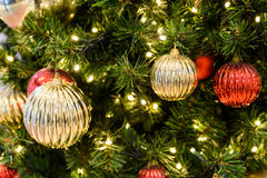 Colorful Christmas Tree Baubles Stock Images