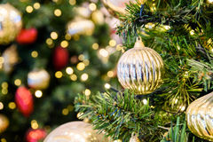 Colorful Christmas Tree Baubles Stock Photography