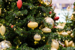 Colorful Christmas Tree Baubles stock photo