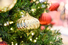 Colorful Christmas Tree Baubles royalty free stock photo