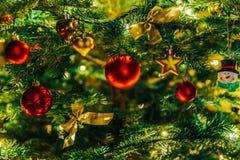 Colorful Christmas Tree Decoration stock image