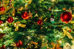 Colorful Christmas Tree Decoration stock photo