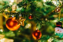 Colorful Christmas Tree Decoration Royalty Free Stock Photography