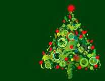 Colorful Christmas tree design Stock Photo