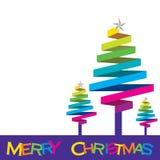 Colorful Christmas tree design Stock Image
