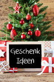 Colorful Christmas Tree, Geschenk Ideen Means Gift Ideas Royalty Free Stock Photo