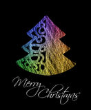 Colorful christmas tree greeting card Royalty Free Stock Photos