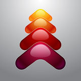Colorful christmas tree on grey background Royalty Free Stock Photos