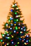 Colorful Christmas tree lights bokeh Royalty Free Stock Photos
