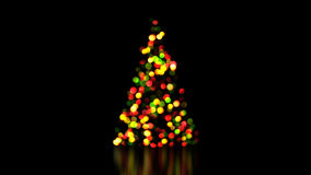 Colorful christmas tree lights out of focus Stock Photography