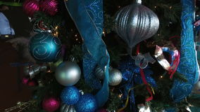 Colorful Christmas tree in the Saint Thomas cafe,Saint Thomas, U.S. Virgin Islands stock footage