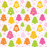 Colorful christmas tree seamless background Royalty Free Stock Photos