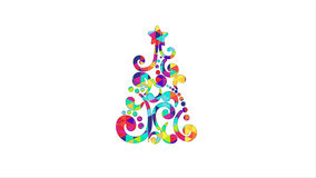 Colorful christmas tree shape. Computer generated graphic Royalty Free Stock Images