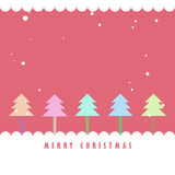 Colorful Christmas tree and snow background. Colorful Christmas tree and snow with pink background, Greeting card background Royalty Free Stock Photo