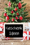 Colorful Christmas Tree, Snowflakes, Geschenk Ideen Means Gift Ideas Royalty Free Stock Photos