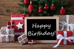 Colorful Christmas Tree, Text Happy Birthday