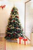 Colorful Christmas tree royalty free stock photos