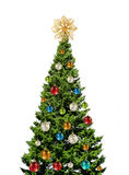 Colorful christmas tree on white Stock Images