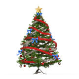 Colorful Christmas Tree. On white background Royalty Free Stock Photos
