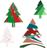 Colorful Christmas trees Royalty Free Stock Images
