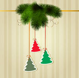 Colorful christmas trees Royalty Free Stock Photo