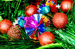 Colorful Christmas Trees Decorations. Stock Photos