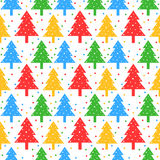 Colorful christmas trees pattern Royalty Free Stock Photos