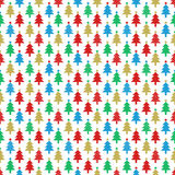 Colorful Christmas trees seamless pattern Stock Image