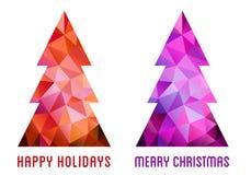 Colorful Christmas trees, vector Stock Photos