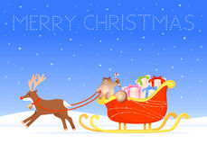 Colorful Christmas wish card Stock Image