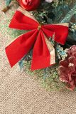 Colorful Christmas wreath Royalty Free Stock Photos