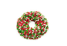 Colorful christmas wreath Stock Image