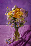 Colorful chrysanthemums bunch Stock Image