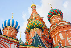 Colorful church cupolas Royalty Free Stock Images